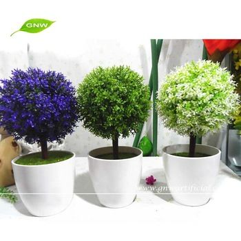 Gnw Artificial Potted Plant Small Ornamental Bonsai Plants Centerpieces On Table