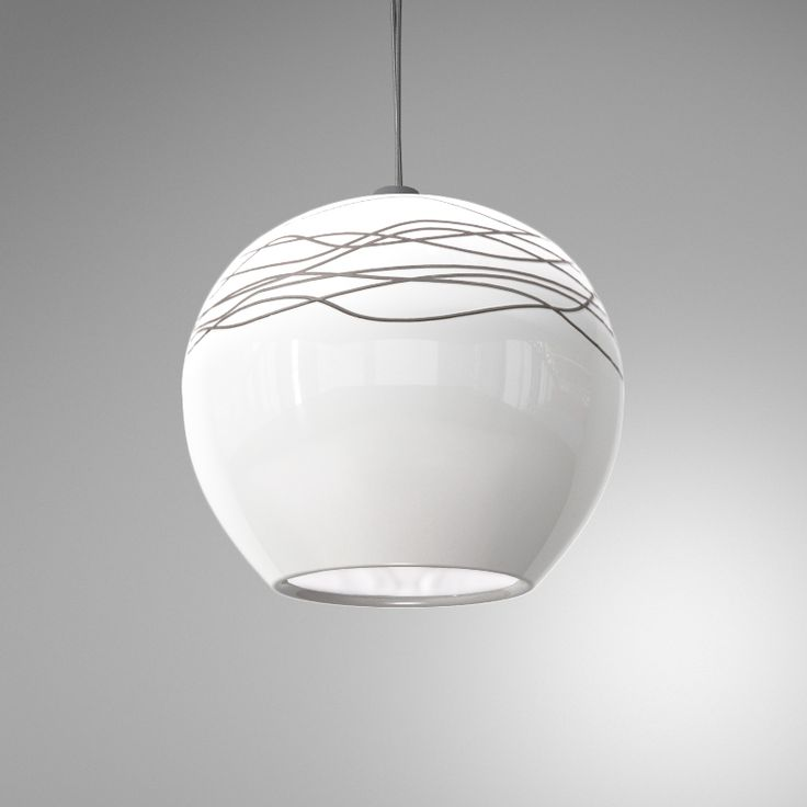 Seltia Aire White - hanging glass opaque pendant modern lamp custom