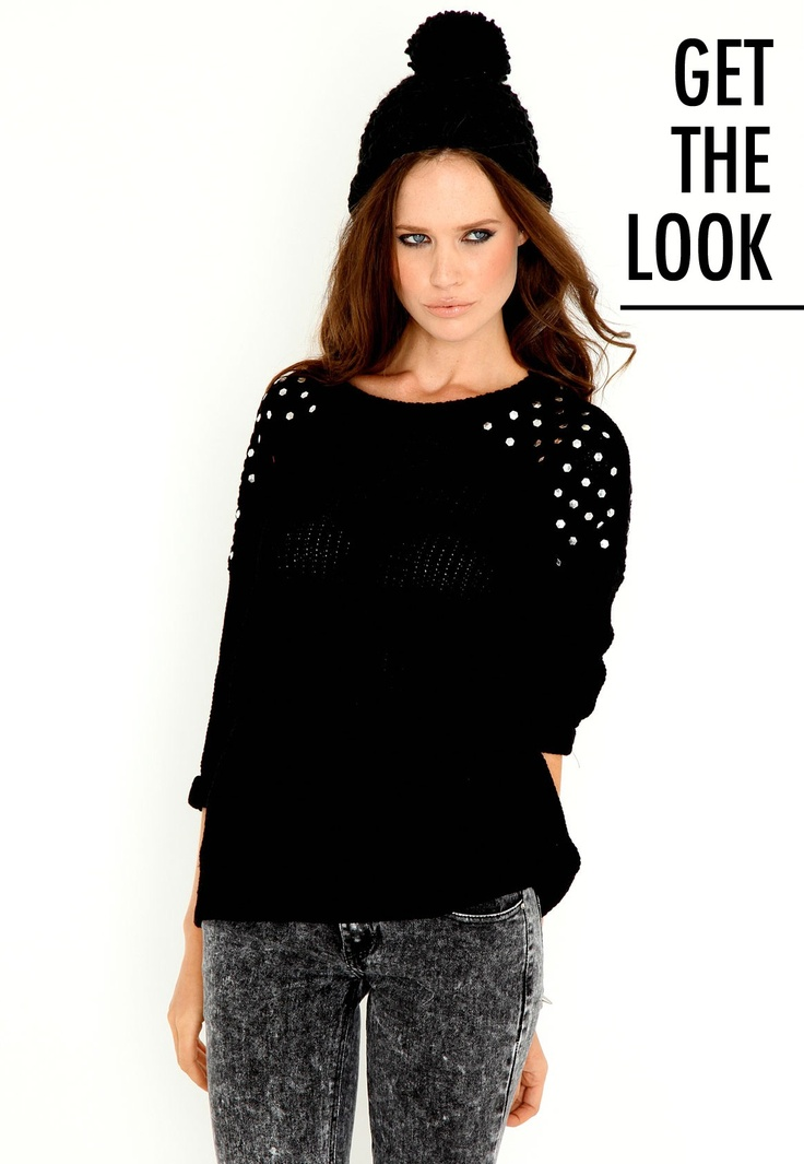Giorgina Studded Jumper- Gorgeous piece of knitwear for those chilly mornings! #MGWinterWardrobe