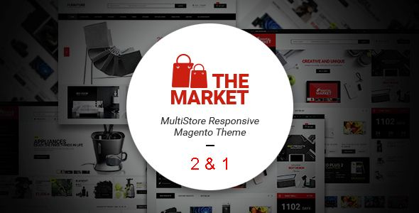 The Market - Multipurpose Responsive Magento 2 & 1 Theme . The Market – Multi Purpose Responsive Magento 2 & 1 Theme is a the best design magento 2016  homepage full responsive and html5/css3. The Market is designed with a simple, clean and clear style very easy customize. The Responsive Magento theme crafted for selling digital, gym, sport, shoe products