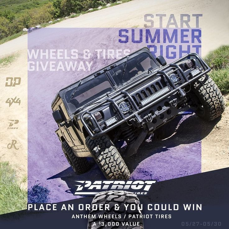 Get those entries in! This weekend only we are giving away a set of @patriottires and anthem wheels! >>Click the link in my bio<< by modify