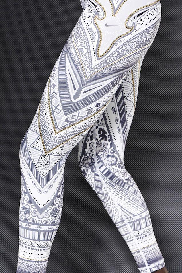 Nike Running Tights Arctic Monarch Special Edition -#nike #runningtights #prints