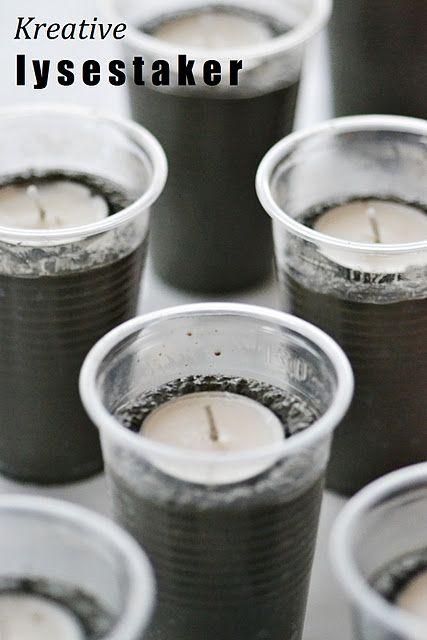 So einfach macht man Kerzenhalter aus Beton