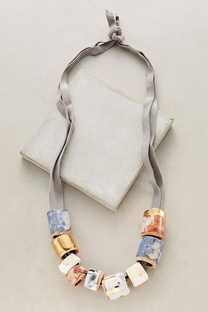 Misura Porcelain Necklace - anthropologie.com $179 basically strung glaze samples lol