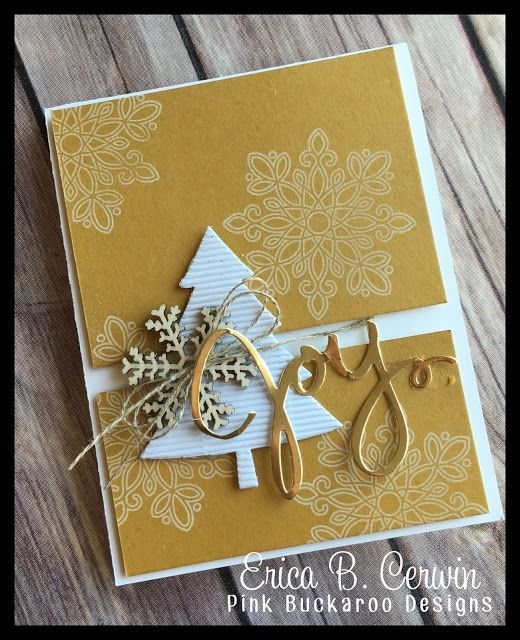 Stampin' Up! Peaceful Pines, Pink Buckaroo Designs: In Color Christmas Card Video