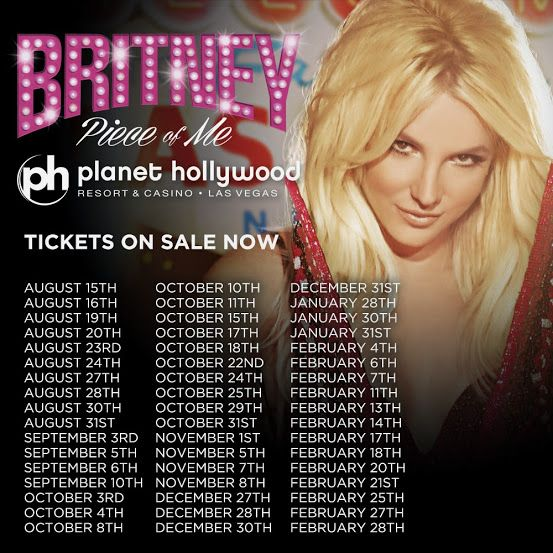 The next round of #PieceOfMe tickets are up NOW!! Which shows are y'all coming to??  http://www.ticketatm.com/britney-spears-tickets.aspx