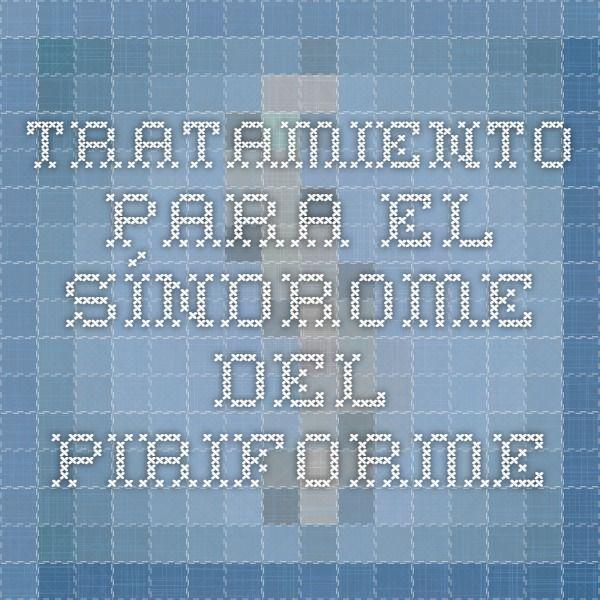 Tratamiento para el síndrome del piriforme
