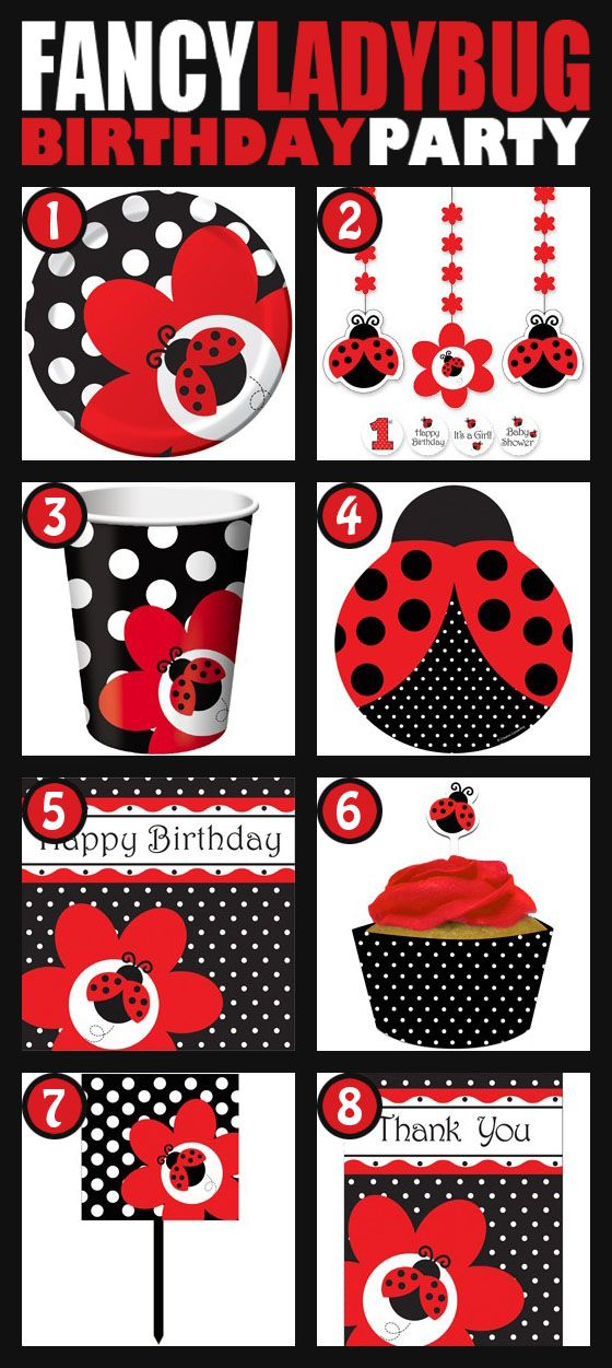 Ladybug party supplies. 8 can't miss ladybug party items for your ladybug birthday from www.DiscountPartySupplies.com