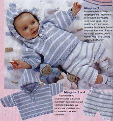 Детские комплекты и костюмы вязаные крючком и спицами » Страница 12