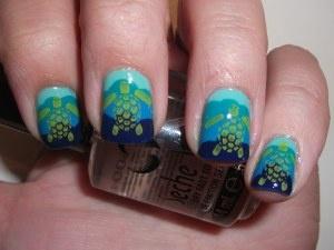 Sea turtle nails :)