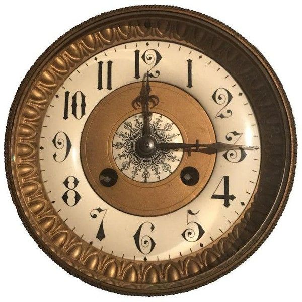 Antique Mantle Clock Face ($75) ❤ liked on Polyvore featuring home, home decor, clocks, antique clock, antique desk clock, antique mantle clock, antique mantel clocks and antique home decor