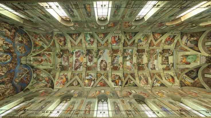 Sixtijnse-Kapel-3 3d kijken in sixtijnse kapel, helemaal alleen, geweldig!