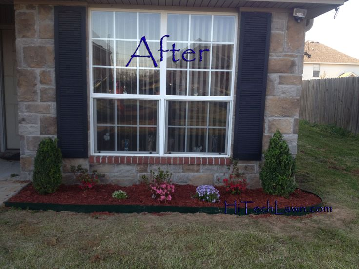 14 best images about flower beds on pinterest gardens for Front window landscaping ideas
