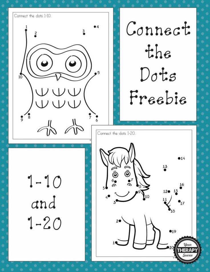 Dot to Dot 110 and 120 Freebies Numbers preschool