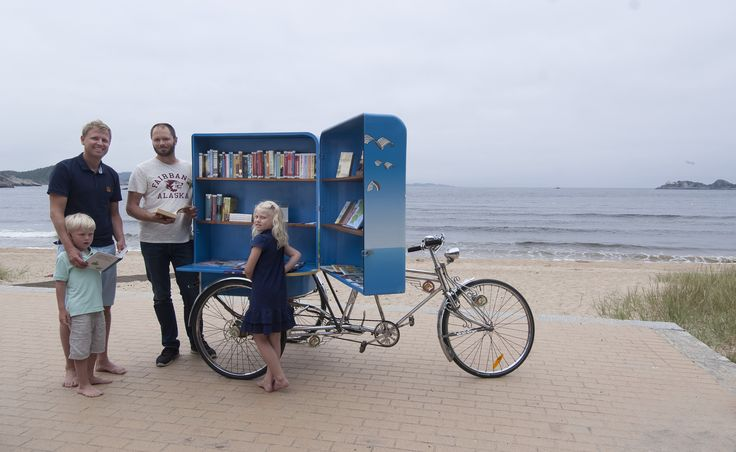 Bike libary on the beach in Mandal.  Photo: Peder Austrud©Visit Sørlandet