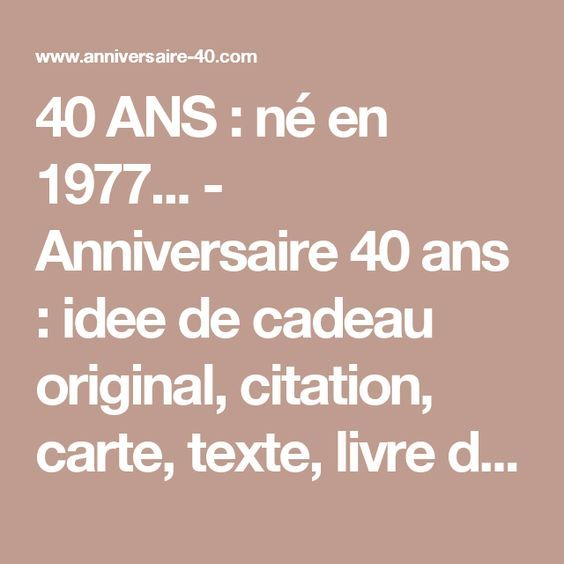 les 25 meilleures id es de la cat gorie anniversaire 40 ans sur pinterest 40 anniversaire. Black Bedroom Furniture Sets. Home Design Ideas