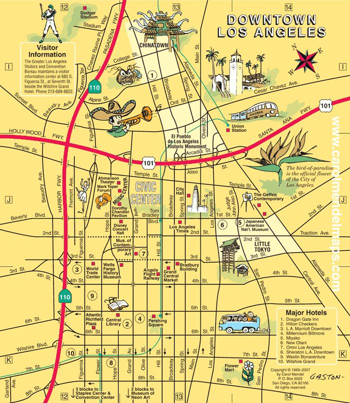 hop on hop off los angeles map pdf