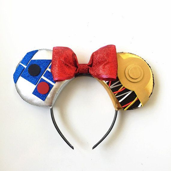 Star Wars C3PO and R2D2 Disney Inspired Ears, Star Wars Ears, Star Wars C3PO R2D2 Mickey Ears, Star Wars, Disney inspired Best Friends Ears,