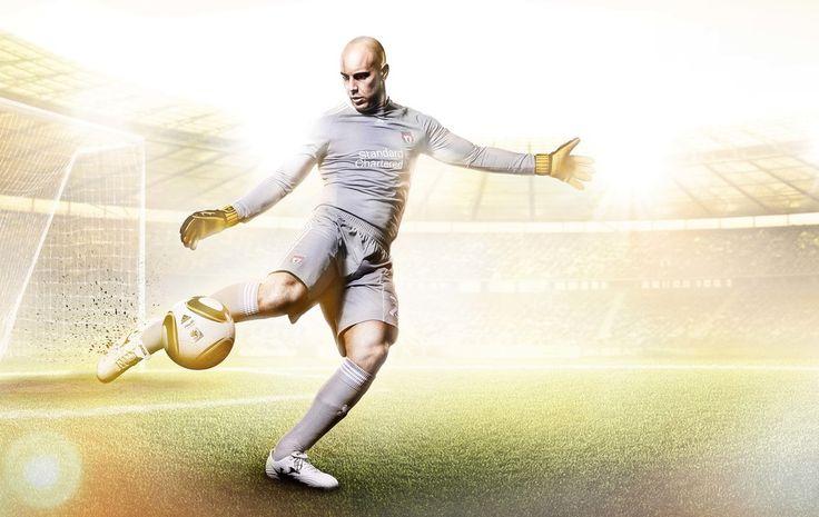 Pepe Reina- Liverpool Football Club #Photography #SportsPhotography #SimonDervillerPhotography #LiverpoolFootballClub #Sports #Football #Adidas