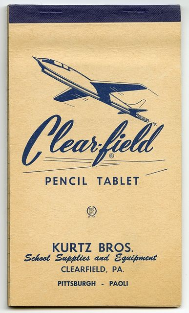 Clearfield Pencil Tablet: Graphic Design, Vintage Typography, Vintage Graphic, School Supplies, Vintage Type Design, Pencil Design, Vintage Design, Clearfield Pencil, Pencil Tablet