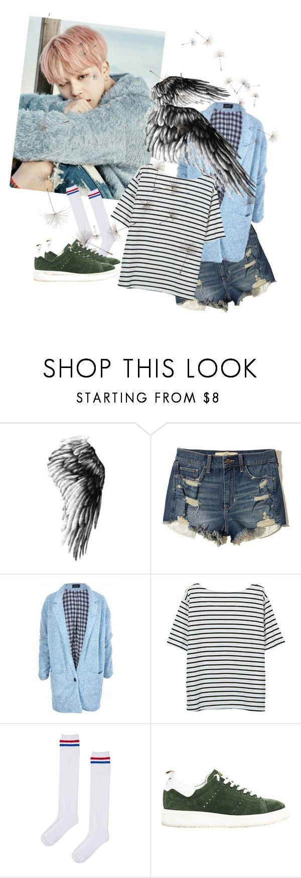 """""""Windy Spring Day"""" by bangtansstyle ❤ liked on Polyvore featuring Hollister Co., MINKPINK, Topshop and Golden Goose"""