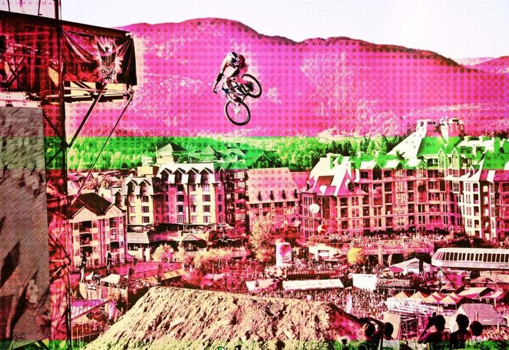 Bike Art - Mountain Bike Art - Mountain Bike prints - Digital art - Cyclist gift - Mountain Bike Art - gift for boys - modern art - graphic design - blotter art - photography -Extreme sports - extreme mountain biking - cool bike photo  -digital art - bike - mountain biking - BMX - X Games - Freeride MTB - dirt jump photos - Mountain bike photos - Mountain Bike posters - Bike prints - Men's gift ideas - Boy birthday gift ideas - Gift for cyclists - Bicycle Art - Whistler Crankworx - Whistler…