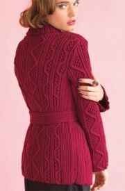 Belted Cardigan by Shirley Paden - Vogue Knitting, Holiday 2014. Обсуждение на LiveInternet - Российский Сервис Онлайн-Дневников
