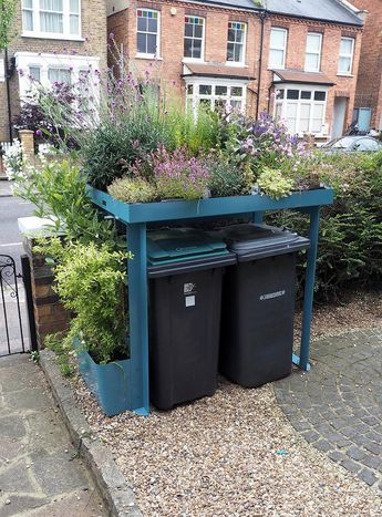 BinDock Double | Front garden, Garden storage, Garden design