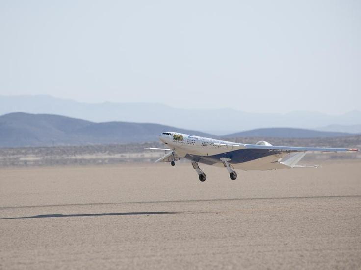 NASA - Blended Wing Body Aircraft Lifts Off