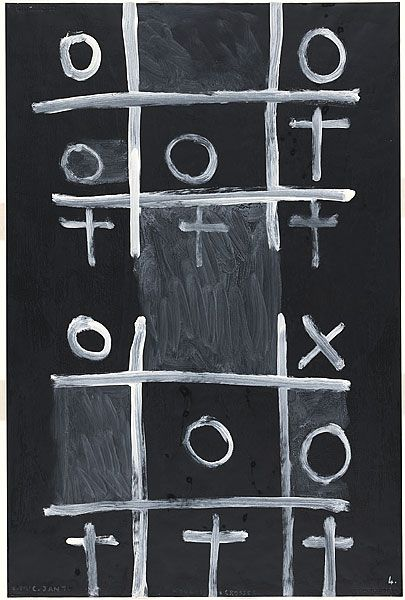 Colin McCAHON, Noughts and crosses 4, 1976