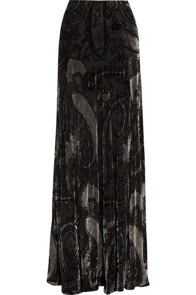 ETRO elegant Devoré-chiffon maxi skirt