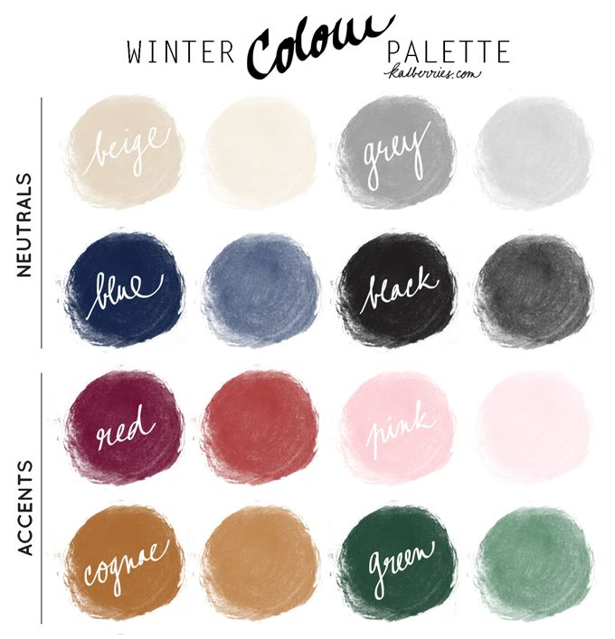 Winter colour palette for my capsule wardrobe