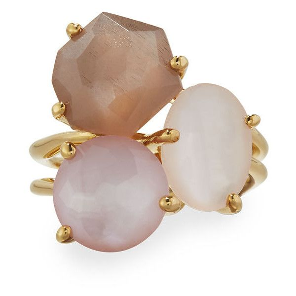 Ippolita Rock Candy Gelato 18k Mixed Gem Cocktail Ring ($1,260) ❤ liked on Polyvore featuring jewelry, rings, multi, gemstone cocktail rings, 18 karat gold ring, pink ring, pink gemstone rings and brown gemstone ring