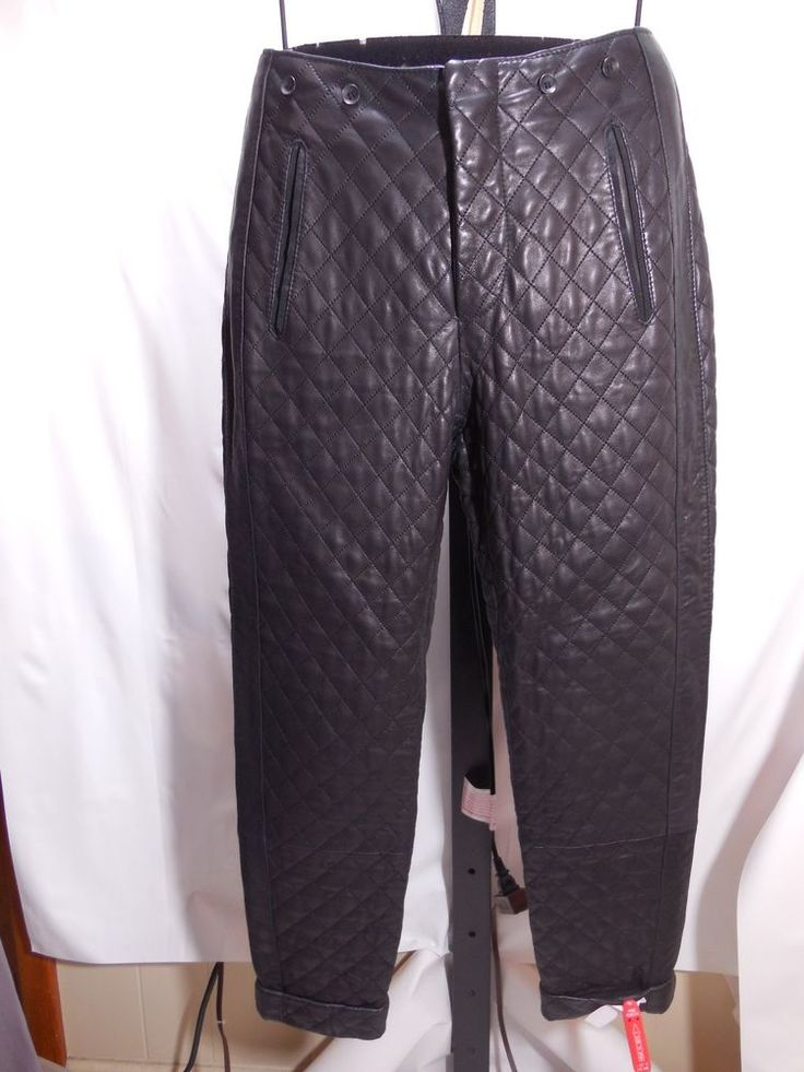 MISSES RAG & BONE WOODSTOCK BLACK QUILTED LAMB LEATHER PANTS 2 $1395 #ragbone #Leather