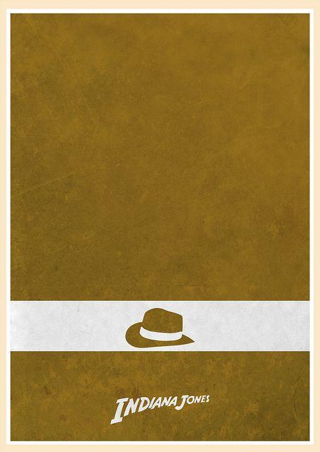 Indiana Jones Minimalist Poster #47 | design by Jon Glanville
