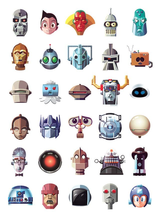 Famous Robot Poster