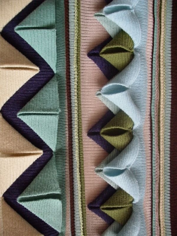 Fabric Manipulation - decorative textures in knitted fabric #textiles