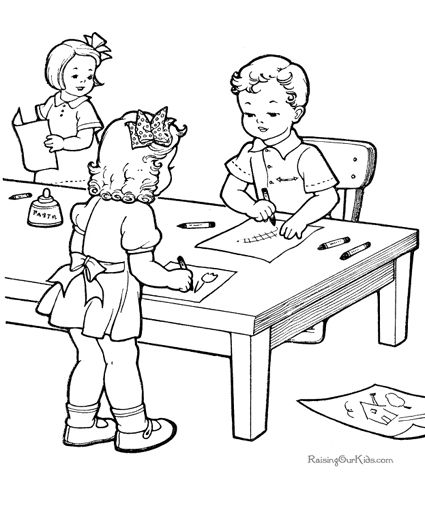 school children coloring pages - photo#27