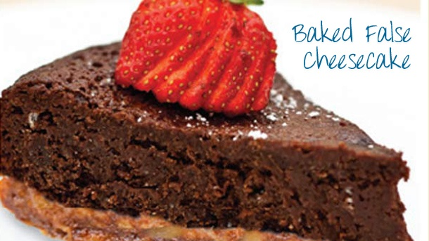 Baked false cheesecake - recipe kindly provided by our friendly New World staff!