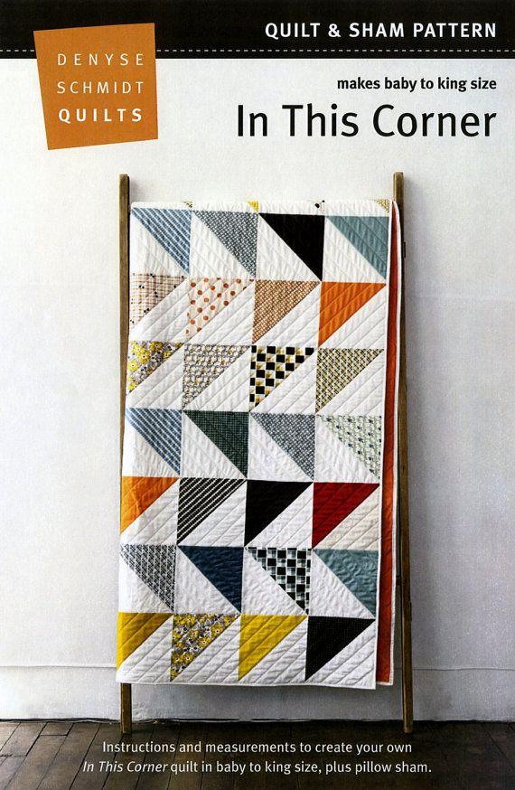 In This Corner Denyse Schmidt quilt pattern sham by mineymo