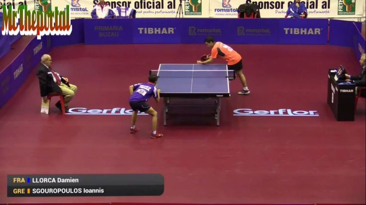Table Tennis European Youth TOP10 2015 - Ioannis Sgouropoulos Vs Damien ...