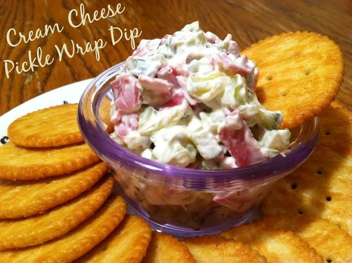 Cream Cheese Pickle Wrap Dip (like pickle roll ups - but easier!)    I've used Budding corned beef or pastrami too - and it's very good.