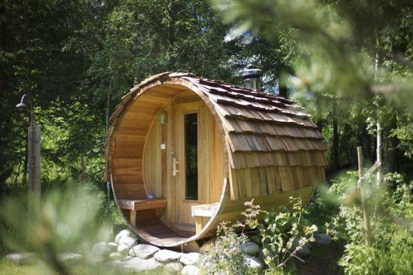 Beispiele Eine Garten Im Sauna Een Sauna In De Tuin 19 Voorbeelden Eine Sauna Im Garten 19 Beispiele Buite Outdoor Sauna Barrel Sauna Sauna Diy