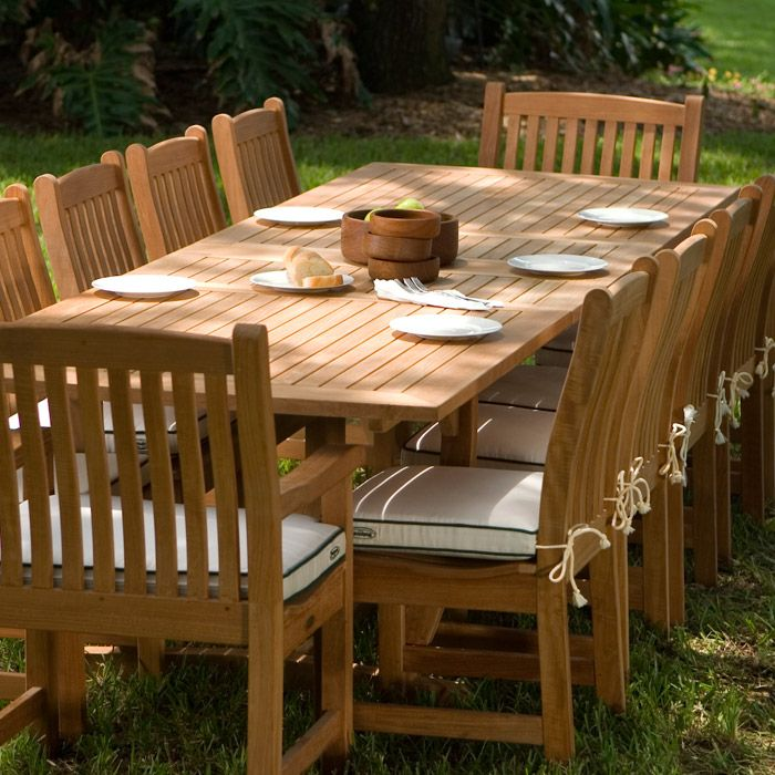 Veranda 12 Person Dining Table Teak Furniture Set