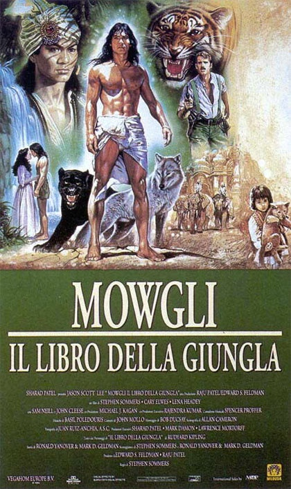MOWGLY - IL LIBRO DELLA GIUNGLA (Un film di Stephen Sommers. Con Sam Neill, Jason Scott Lee, John Cleese, Cary Elwes, Lena Headey - usa 1994)