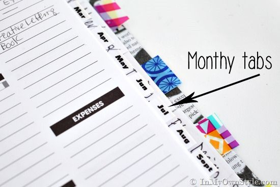 As a DIY home decorating blogger I always like to plan ahead. I am sharing my day planner organization ideas that I use to keep my projects and me organized | In My Own Style