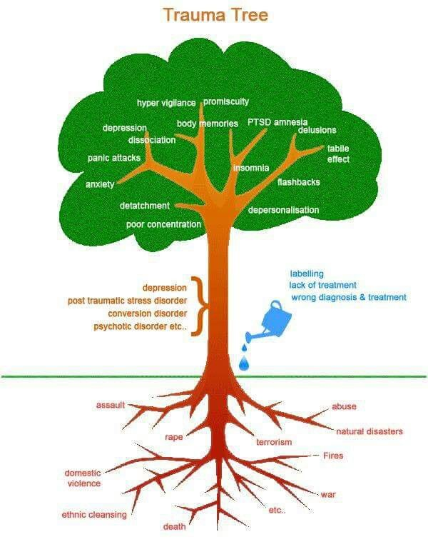 Trauma tree : Oh Mind! : Pinterest : Trees and Trauma