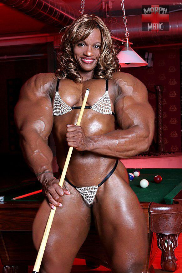 Monique Hayes - Massive Muscle Woman  Morphed Female -5570