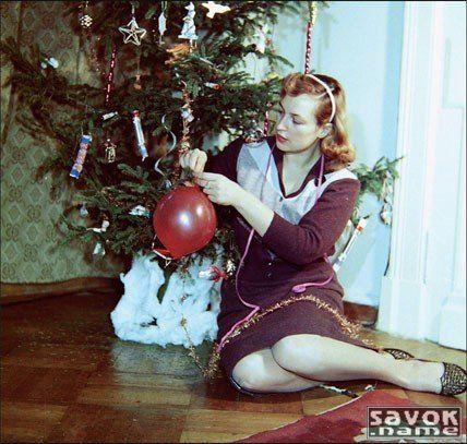 Старые новогодние фотографии