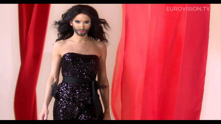 Conichita Wurst represents Austria during the Eurovision contest 2014. Conchita has already become a symbol for tolerance and artistic freedom in Austria and beyond. Will he make it to the finals? UPDATE: Conchita actually won the Eurovision contest 2014!
